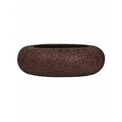 Кашпо Capi Nature wood bowl round 1-й размер brown, коричневый
