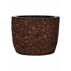 Кашпо Capi Nature wood egg planter 2-й размер brown, коричневый
