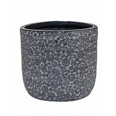 Кашпо Capi Nature wood egg planter 3-й размер black, чёрный