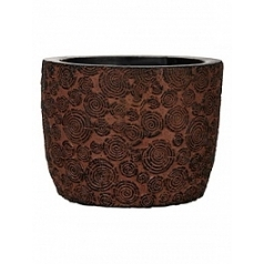 Кашпо Capi Nature wood egg planter 3-й размер brown, коричневый