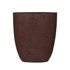 Кашпо Capi Nature wood oval planter 3-й размер brown, коричневый