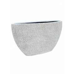 Кашпо Capi Nature wood planter oval 1-й размер ivory, слоновая кость