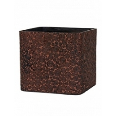Кашпо Capi Nature wood planter square 2-й размер brown, коричневый