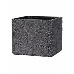 Кашпо Capi Nature wood planter square 4-й размер black, чёрный