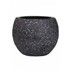 Кашпо Capi Nature wood vase ball 2-й размер black, чёрный