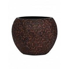 Кашпо Capi Nature wood vase ball 2-й размер brown, коричневый