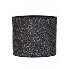 Кашпо Capi Nature wood vase cylinder 3-й размер black, чёрный