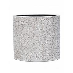 Кашпо Capi Nature wood vase cylinder 3-й размер ivory, слоновая кость