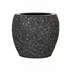 Кашпо Capi Nature wood vase elegant 2-й размер black, чёрный