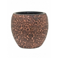Кашпо Capi Nature wood vase elegant 2-й размер brown, коричневый