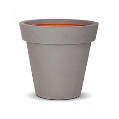Кашпо Capi Tutch nl pot + binding light grey, серый, светло-серый