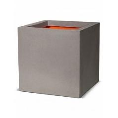 Кашпо Capi Tutch nl pot square 2-й размер light grey, серый, светло-серый