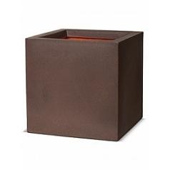 Кашпо Capi Tutch nl pot square 3-й размер brown, коричневый