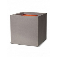 Кашпо Capi Tutch nl pot square 4-й размер light grey, серый, светло-серый