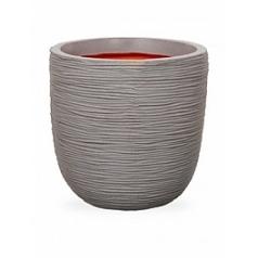 Кашпо Capi Tutch rib nl egg planter grey, серый