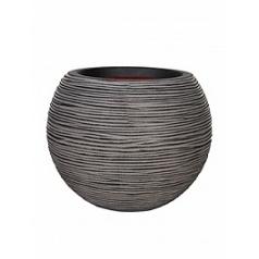 Кашпо Capi Tutch rib nl vase ball anthracite, антрацит