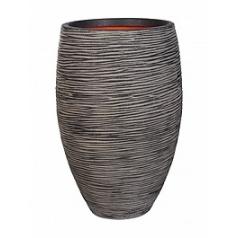 Кашпо Capi Tutch rib nl vase elegant deLuxe anthracite, антрацит