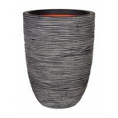 Кашпо Capi Tutch rib nl vase elegant low anthracite, антрацит