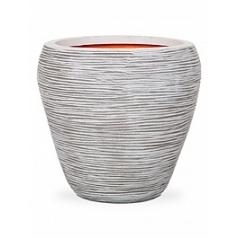 Кашпо Capi Tutch rib nl vase tapering round ivory, слоновая кость