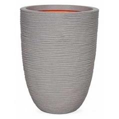 Кашпо Capi Tutch rib nl vase vase elegant low grey, серый