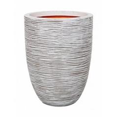 Кашпо Capi Tutch rib nl vase vase elegant low ivory, слоновая кость