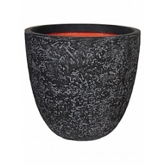 Кашпо Capi Tutch rock nl pot round ll black, чёрный