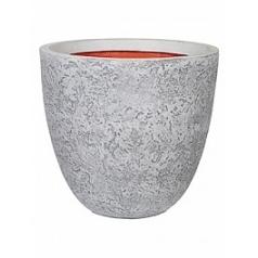Кашпо Capi Tutch rock nl pot round ll ivory, слоновая кость