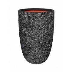 Кашпо Capi Tutch rock nl vase elegant black, чёрный