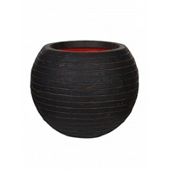 Кашпо Capi Tutch row nl vase ball dark brown, коричневый, тёмно-коричневый