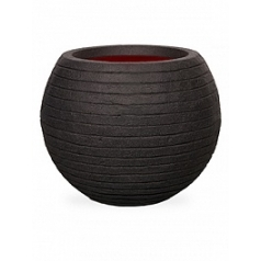 Кашпо Capi Tutch row nl vase vase ball black, чёрный