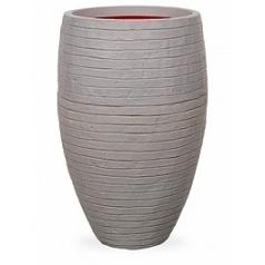 Кашпо Capi Tutch row nl vase vase elegant deLuxe grey, серый