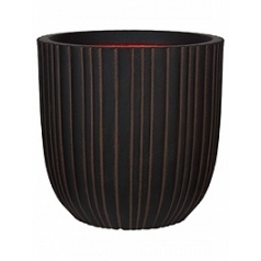 Кашпо Capi Tutch tube nl planter ball dark brown, коричневый, тёмно-коричневый