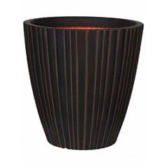 Кашпо Capi Tutch tube nl vase taper round dark brown, коричневый, тёмно-коричневый
