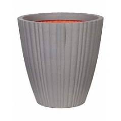 Кашпо Capi Tutch tube nl vase taper round grey, серый