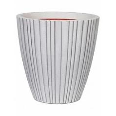 Кашпо Capi Tutch tube nl vase taper round ivory, слоновая кость