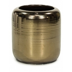 Ваза Fleur Ami Glaze vase antique-gold, под цвет золота, цвета античное золото