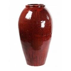 Ваза Nieuwkoop Mystic vase red, красного цвета black, чёрного цвета, красно-чёрного цвета