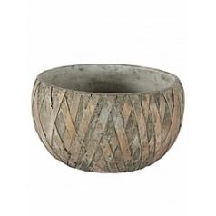 Кашпо Nieuwkoop Indoor pottery bowl sterre copper grey, серого цвета