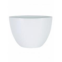 Кашпо Nieuwkoop Indoor pottery planter cresta pure white, белого цвета