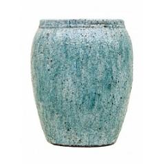 Кашпо Nieuwkoop Indoor pottery planter floris sky blue, голубого/синего цвета