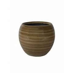 Кашпо Nieuwkoop Indoor pottery pot cresta caramel, карамельного цвета