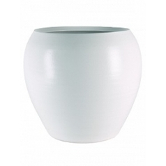 Кашпо Nieuwkoop Indoor pottery pot cresta pure white, белого цвета