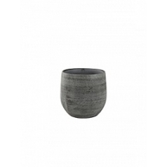 Кашпо Nieuwkoop Indoor pottery pot esra mystic grey, серого цвета