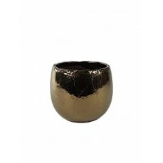 Кашпо Nieuwkoop Indoor pottery pot kirsty gold, под цвет золота