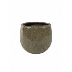 Кашпо Nieuwkoop Indoor pottery pot kirsty taupe, тёмно-серый