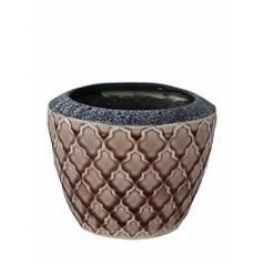 Кашпо Nieuwkoop Indoor pottery pot trento old pink, цвета античный розовый