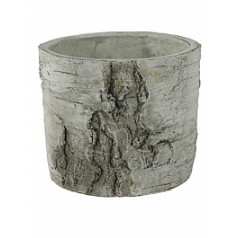 Кашпо Nieuwkoop Indoor pottery pot wood white, белого цвета