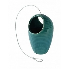Подвесное Кашпо Nieuwkoop Indoor pottery hanger floor turquoise