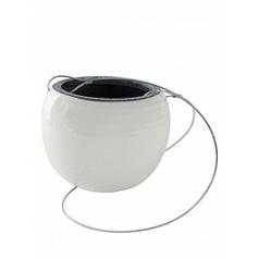 Подвесное Кашпо Nieuwkoop Indoor pottery hanger floor white, белого цвета