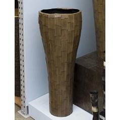 Ваза Nieuwkoop Indoor pottery naboo vase oval grey, серого цвета-brown, коричнево-бурого цвета